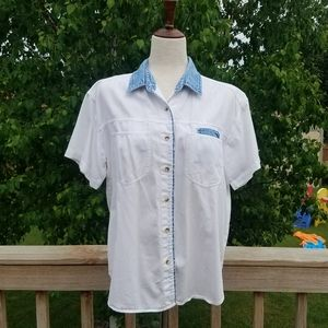 Vintage Vision White & Denim Shirt